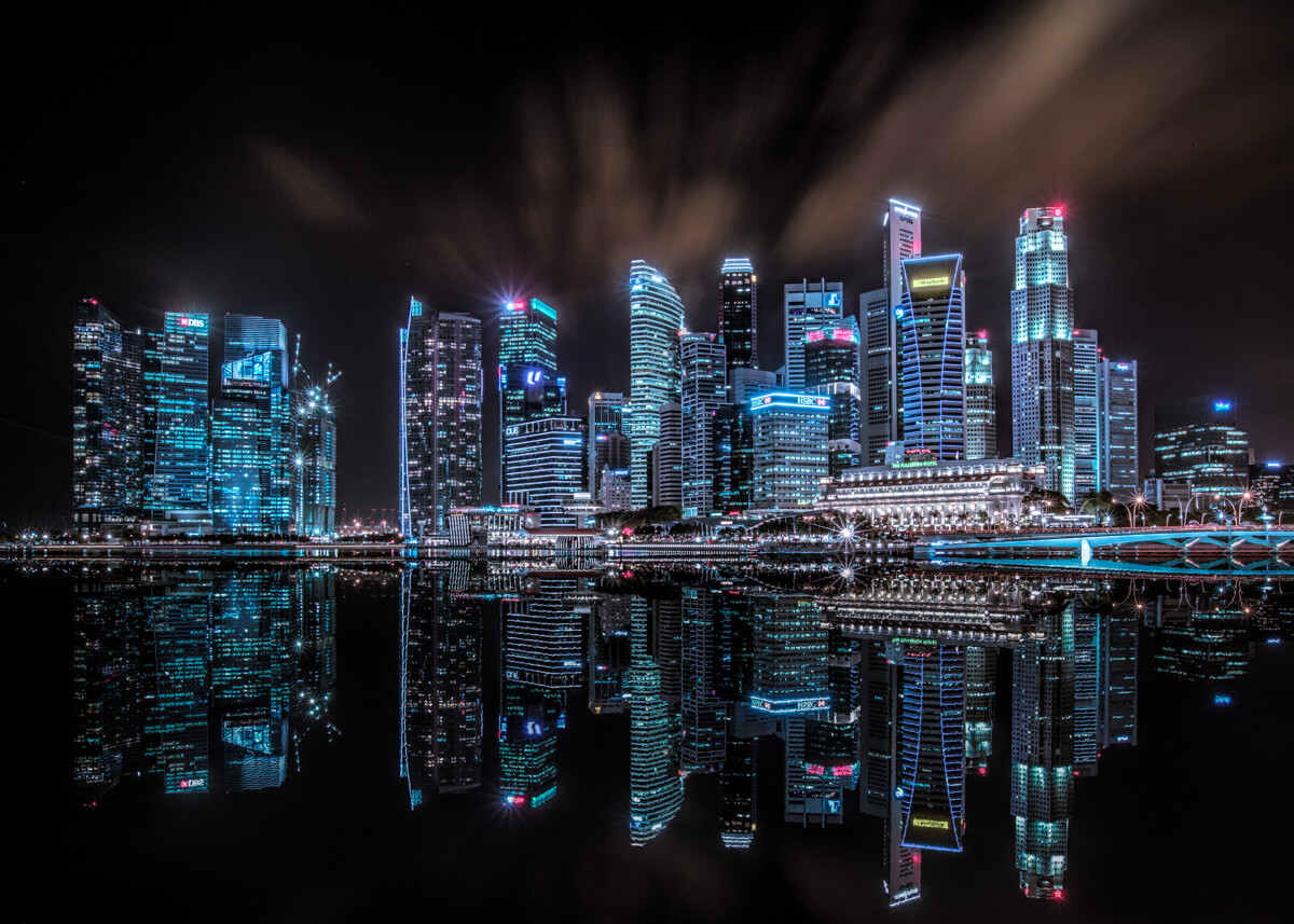 marina and fullerton bay at night singapore fine art photographs by yaopey