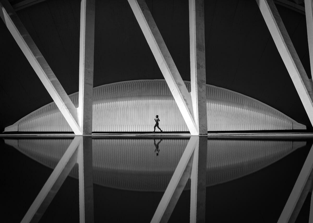 city of arts and sciences architecture black and white by yaopey