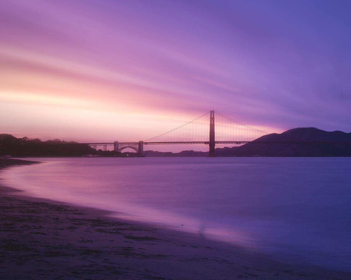 golden gate bridge san francisco cloudy sunset fine art photographs yaopey